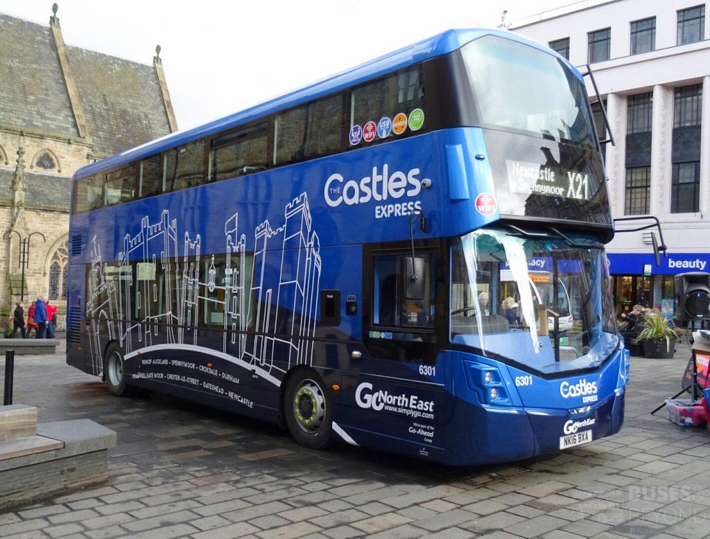Castles Express branded Wright Streetdeck