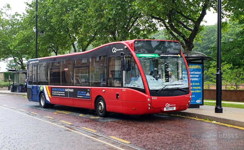 One of Go North East's Optare Versa buses standing at Chester-le-Street