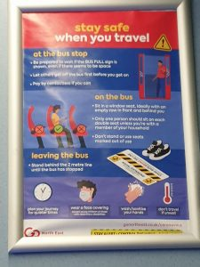 Go North East - 'Stay safe when you travel' on board poster