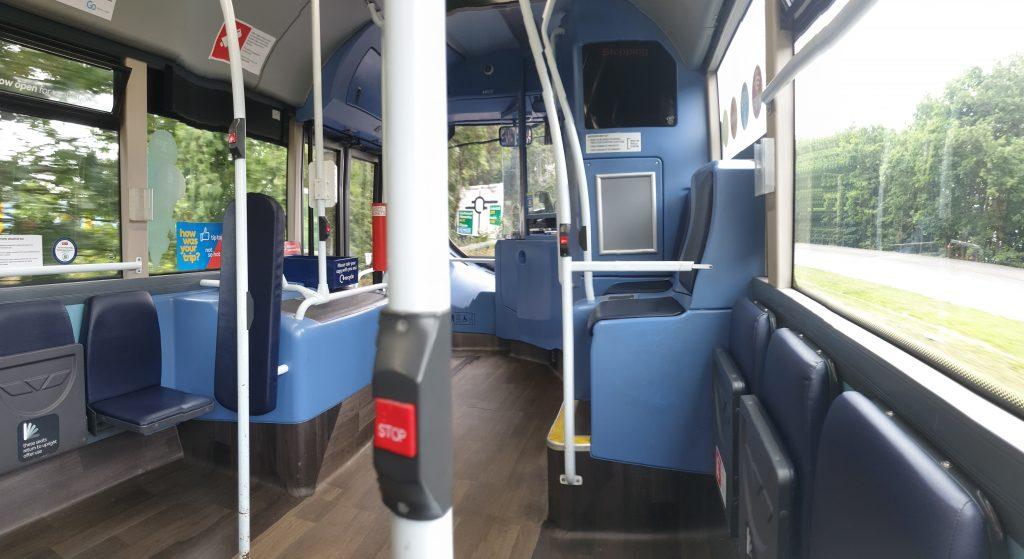 Panoramic shot of 5396 interior.