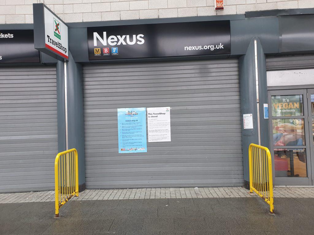Closed Travel Shop at Park Lane